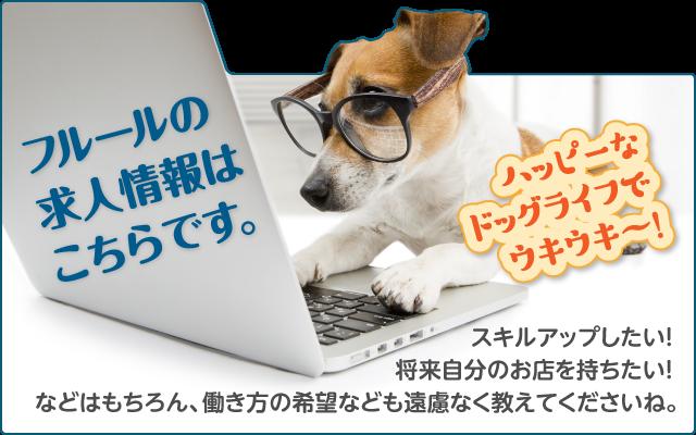 フルールの求人情報はこちらです。ハッピーなドッグライフでウキウキ〜!スキルアップしたい! 将来自分のお店を持ちたい! などはもちろん、働き方の希望なども遠慮なく教えてくださいね。